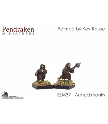 10mm European Late Medieval: Armed Monks