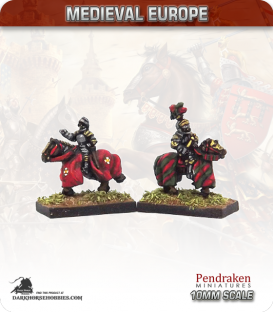 10mm European Late Medieval: Mounted Generals