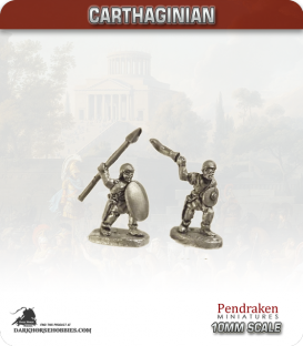 10mm Punic Wars: Carthaginian - Iberian Auxiliaries with Spear/Sword