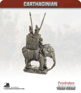 10mm Punic Wars: Carthaginian - Elephant with Howdah and Crew