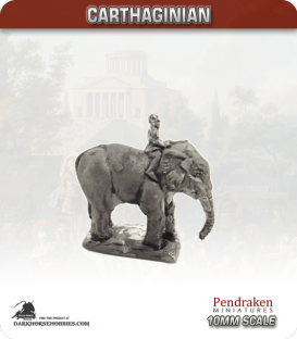 10mm Punic Wars: Carthaginian - Elephant with Rider