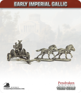 10mm Early Imperial: (Gallic) Chariot with Crew
