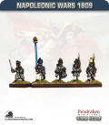 10mm Napoleonic Wars (1809): French Line/Fusiliers in Greatcoat (with command) - March Attack