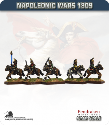 10mm Napoleonic Wars (1809): French Dragoons (with command)