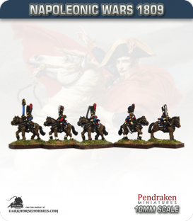10mm Napoleonic Wars (1809): French Carabiniers (with command)