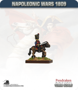10mm Napoleonic Wars (1809): French Mounted Guard Grenadier Officers