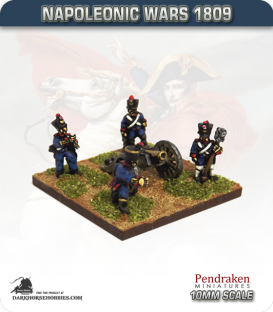 10mm Napoleonic Wars (1809): French 4pdr Guns (with line foot crew)
