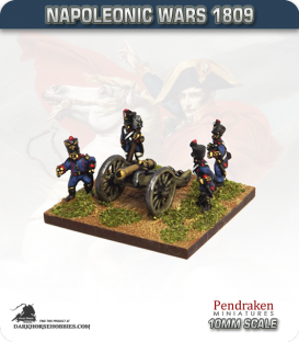 10mm Napoleonic Wars (1809): French 8pdr Guns (with line foot crew)