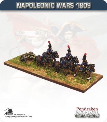 10mm Napoleonic Wars (1809): French Limbers (with line team / out-riders)