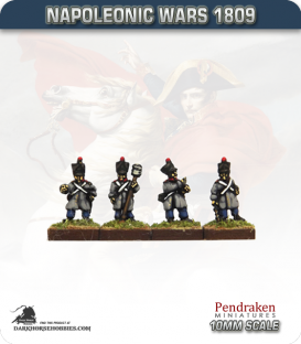 10mm Napoleonic Wars (1809): French Line Artillery Crew in Greatcoat