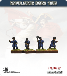 10mm Napoleonic Wars (1809): French Late Guard Horse Artillery Crew in Greatcoat
