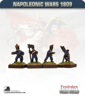 10mm Napoleonic Wars (1809): French Line Horse Artillery Crew in Shako