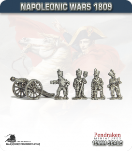 10mm Napoleonic Wars (1809): French 12pdr Guns (with line crew)