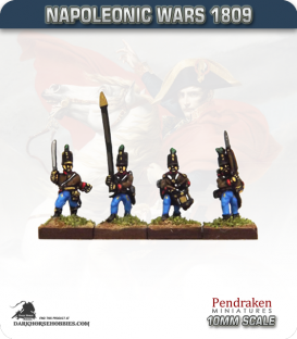 10mm Napoleonic Wars (1809): Austrian Grenzers - March Attack