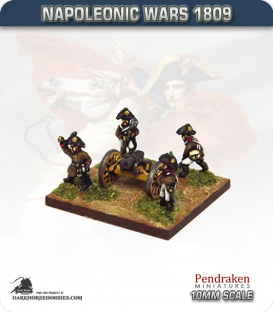 10mm Napoleonic Wars (1809): Austrian 7in Howitzers (with crew)