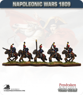 10mm Napoleonic Wars (1809): Austrian Hussars (with command)