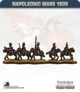 10mm Napoleonic Wars (1809): Austrian Dragoon / Chevauleger (with command)