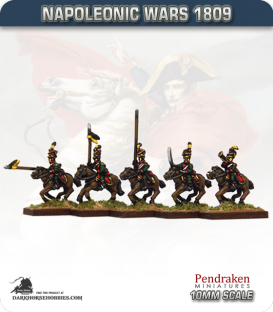 10mm Napoleonic Wars (1809): Austrian Uhlan Lancers (with command)