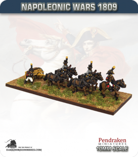 10mm Napoleonic Wars (1809): Austrian Limbers (with team)