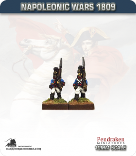 10mm Napoleonic Wars (1809): Bavarian Line / Light Infantry - March Attack