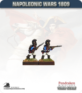 10mm Napoleonic Wars (1809): Bavarian Line / Light Infantry - Firing / Advancing