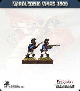 10mm Napoleonic Wars (1809): Bavarian Line / Light Infantry - Firing / Advancing