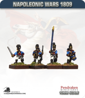 10mm Napoleonic Wars (1809): Bavarian Line / Light Infantry Command