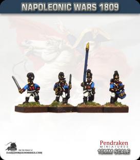10mm Napoleonic Wars (1809): Bavarian Line / Light Infantry Command