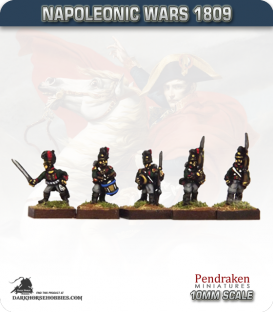 10mm Napoleonic Wars (1809): Bavarian Line / Light Elites (with command) - March Attack