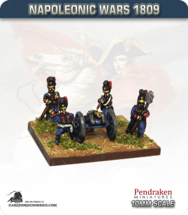 10mm Napoleonic Wars (1809): Bavarian 3pdr Battalion Guns (with crew)