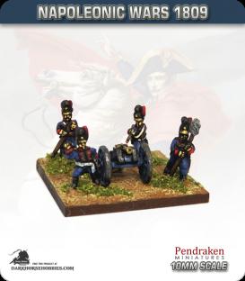 10mm Napoleonic Wars (1809): Bavarian 3pdr Battalion Guns (with crew)