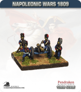 10mm Napoleonic Wars (1809): Bavarian 6pdr Guns (with crew)