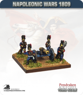 10mm Napoleonic Wars (1809): Bavarian 12pdr Guns (with crew)
