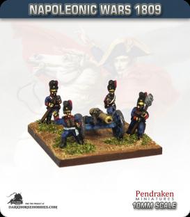 10mm Napoleonic Wars (1809): Bavarian 12pdr Guns (with crew)