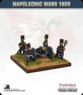 10mm Napoleonic Wars (1809): Bavarian 7in Howitzers (with crew)