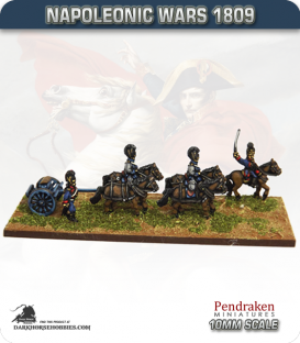 10mm Napoleonic Wars (1809): Bavarian Austrian Style Limbers (with team)