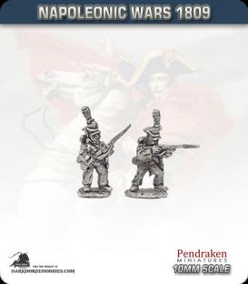 10mm Napoleonic Wars (1809): Duchy of Warsaw Line Voltigeur/Grenadier - Firing Line