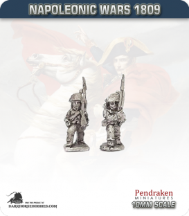 10mm Napoleonic Wars (1809): Hesse-Darmstadt Line/Fusilier - March Attack