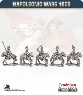 10mm Napoleonic Wars (1809): Hesse-Darmstadt Chevau-Legers (with command)