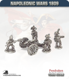 10mm Napoleonic Wars (1809): Hesse-Darmstadt 6pdr Guns (with crew)