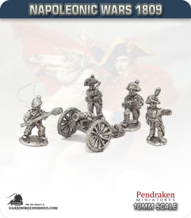 10mm Napoleonic Wars (1809): Hesse-Darmstadt 7in Howitzers (with crew)