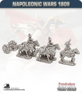 10mm Napoleonic Wars (1809): Hesse-Darmstadt Limbers (with team)