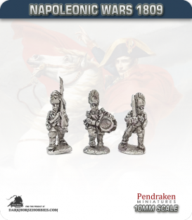 10mm Napoleonic Wars (1809): Saxony Grenadiers - March Attack