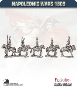 10mm Napoleonic Wars (1809): Saxony Light Cavalry (with command)