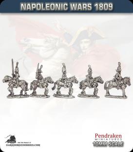 10mm Napoleonic Wars (1809): Saxony Light Cavalry (with command)