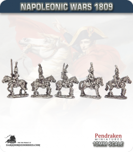 10mm Napoleonic Wars (1809): Saxony Heavy Cavalry (with command)
