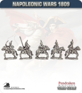 10mm Napoleonic Wars (1809): Saxony Hussars (with command)
