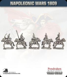 10mm Napoleonic Wars (1809): Saxony Hussars (with command)