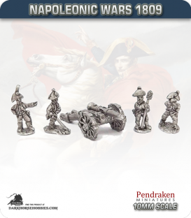 10mm Napoleonic Wars (1809): Saxony 6pdr Guns (with crew)
