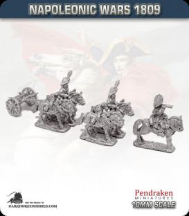 10mm Napoleonic Wars (1809): Saxony Limbers (with team)